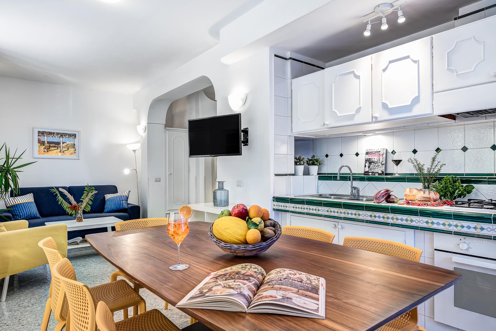 gocce di capri three bedroom apatment classic sorrento kitchen